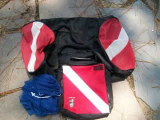 Dive Flag Mesh Duffel Gear Regulator Bags Mesh Collection Bag