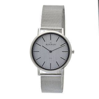 Mens O18LSSC Silver Dial Stainless Steel Mesh Band Watch