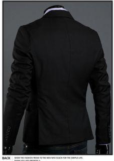 New Mens Slim Fit Dress Suit Jacket One Button Top 4 Color M XXL x14