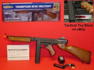 aeg Replica FULL METAL Thompson MILITARY M1A1 Metal Stick Mag AIRSOFT