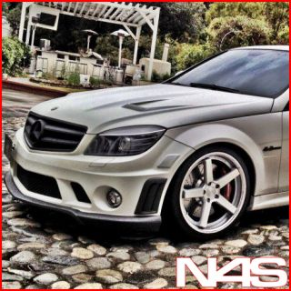 19 Mercedes Benz C300 C350 Stance SC 5IVE Silver Concave Staggered