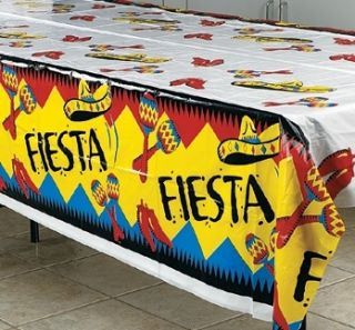 54 x 72 Fiesta Table Cover Mexican Festive Party Decorations Sombrero
