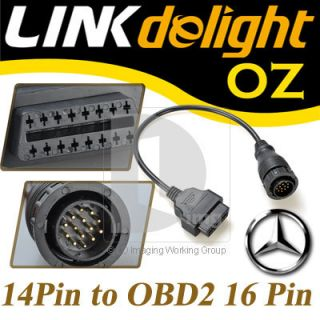 Mercedes Benz Sprinter 14Pin to 16Pin OBD 2 Diagnostic Tool Adaptor