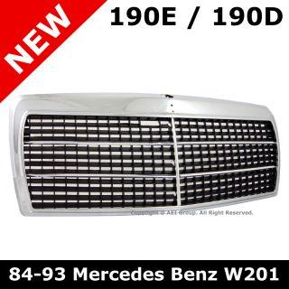 Mercedes Benz W201 190D 190E 84 93 Chrome Front Center Hood Grille