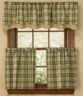 Park Designs Oak Grove Country Cottage Lodge Curtain 72 x 36 Tiers