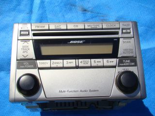 Mazda Miata 6 Changer CD Player Radio Bose 99 01 02 03 04 05 Silver
