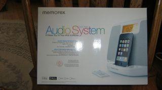 Memorex Clock Radio Audio System iPod iPhone Brand New