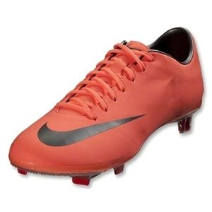 Nike Mercurial Vapor VIII FG Firm Shoes Bright Mango Metallic Grey Red