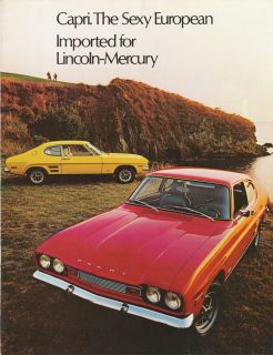 1972 Mercury Capri Catalog Sexy But Forgotten European