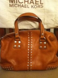 Michael Michael Kors Brown Leather Studded Handbag Never Used