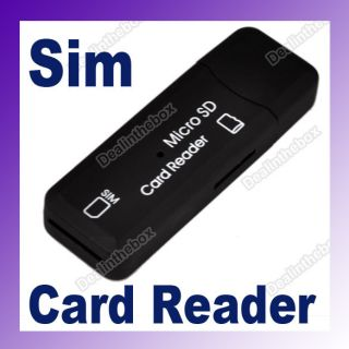 USB 2 0 Sim Memory Card Reader Writer Copy Backup New