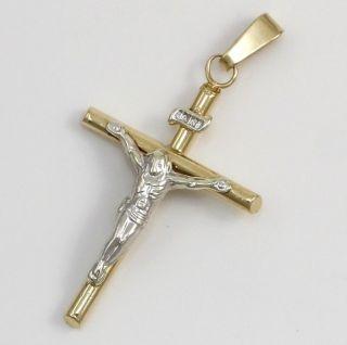 Michael Anthony 10K Solid Yellow Gold Jesus Christ Crucifix Cross