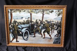 Michael Collins Irish Republican Army Ambush Painting Cork Ireland