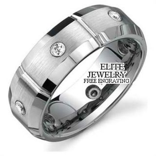 950 Platinum Mens Diamond Wedding Bands Ring 7mm