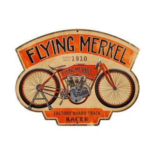 Flying Merkel Antique Classic Motorcycle Custom Metal Sign