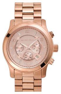 New Michael Kors MK8096 Rose Gold Tone Chronograph Mens Watch