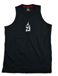 Fit Mens Basketball Jersey Tank Top Nike Black White 466628 010
