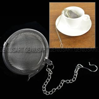 Steel Mesh Infuser Strainer Egg Shaped Tea Locking Spice Mesh Ball