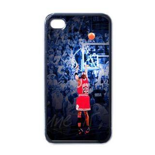 New Michael Jordan 1 Apple iPhone 4 4S Case Black Basket Ball Player