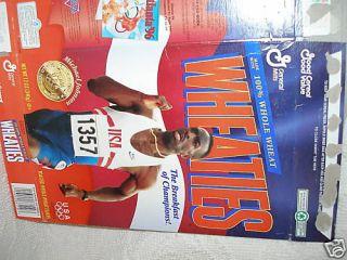 Wheaties Box 1996 Atlanta Olympics Michael Johnson