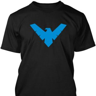 Nightwing Style Logo T Shirt Mens Unisex s XXXL Super Hero