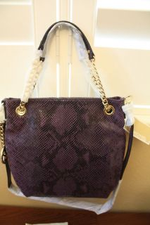 Michael Michael Kors Jet Set Medium Chain Shoulder Tote Bag Purple