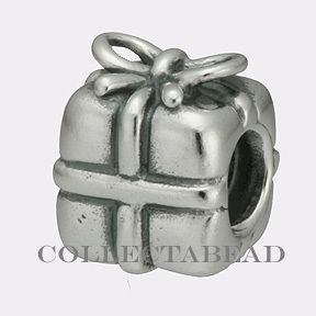 Authentic Pandora Sterling Silver Present Bead