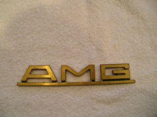 Vintage Mercedes Benz 560 500 SEC SEL W126 AMG Pre merger gold trunk