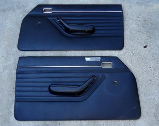 71 72 73 74 Mercury Capri Original L R Door Panels with Armrests