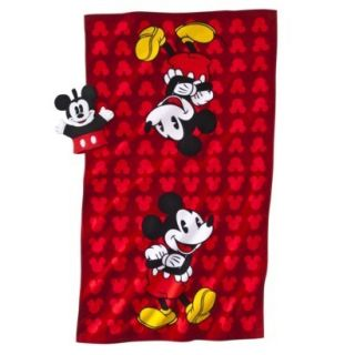 MICKEY MOUSE PERSONALIZED BATH/BEACH TOWEL + WASH MITT FREE PRIORITY