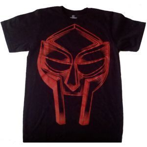 Mens Tee MF Doom Red on Black Mask Medium Hiphopsun Tee