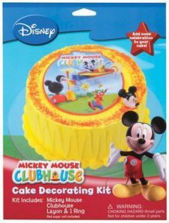 Mickey Mouse Mickeys Clubhouse Cake Topper Decorating Kit Look