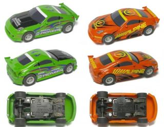 2009 Micro Scalextric Nissan 350Z Tuners Slot Car Pair