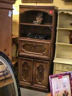 Tall Dark Wood Secretary Desk Cabinet Dayton Miamisburg Ohio