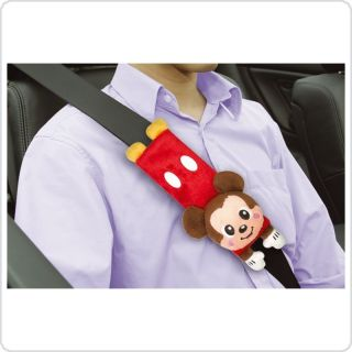 Disney MICKEY MOUSE Plush Seat Belt Car Seatbelt Pad Cover x 2 Car
