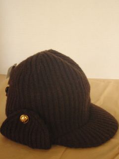 Michael Michael Kors Brown Wool Knit Trapper Hat $65