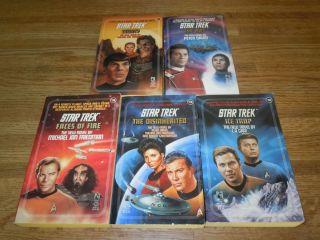 Star Trek Original Series 56 60 Lot Set TOS 1st Ed PB SciFi Kirk
