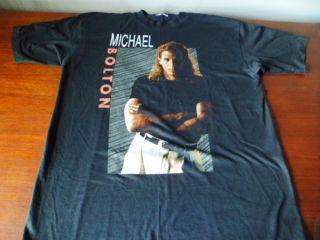 Vintage Michael Bolton T Shirt Black Soul Provider Tour 1990 XL 46 48