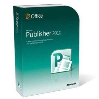 Microsoft Publisher 2010 Full Version not Academic 32 64 Bit