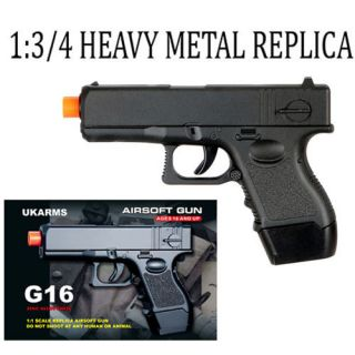 Glock G16 Mini Spring Heavy Metal Alloy G18 Replica Airsoft Pistol Gun