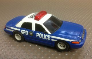 Micro Scalextric American Ford Crown Victoria Police Car HO Slot Car