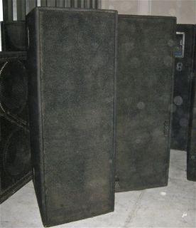 Meyer Sound MSL 3A Concert Speaker Cabinet Pair Dual 12 Mids JBL 2450
