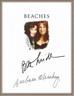 BETTE MIDLER BARBARA HERSHEY CAST SIGNED BEACHES MOVIE SCRIPT RPT FREE