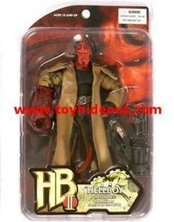 MEZCO HELLBOY II GOLDEN ARMY MOVIE HELLBOY ACTION FIGURE W CIGAR