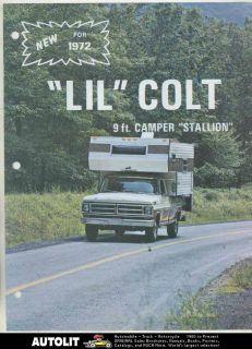 Lil Colt Stallion Pickup Truck Camper RV Brochure Ford Middleburg PA