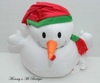 Moshi White Snowman Microbead Plush Pillow Toy
