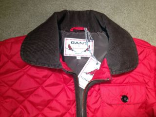 NWT GANT Michael Bastian Red Quilted Jacket Coat MEDIUM