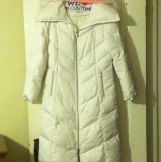 Michael Kors White Puffy Coat