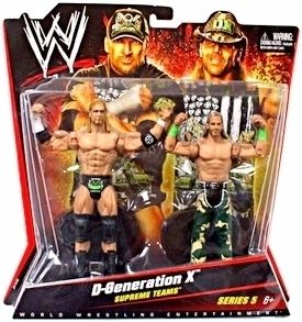 MATTEL WWE SHAWN MICHAELS TRIPLE H D GENERATION X SUPREME TEAMS 2 PACK