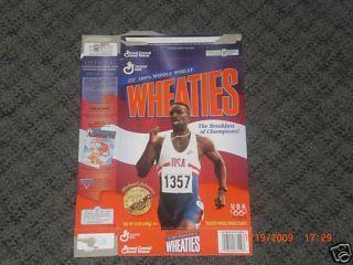 Michael Johnson Track Olympian Wheaties Box